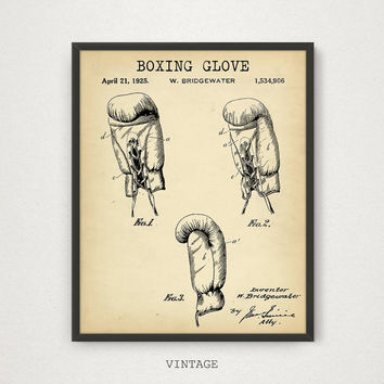 Boxing Gloves Patent, 4 COLORS, Printable Patent, Boxing Poster, Boxing Print, Boxer Gift, Sports Wall Art, Patent Print Digital Download