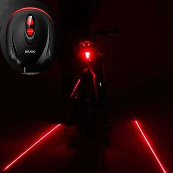 Bicyle  2 Laser Projector Red Lamps Beam and 3 LED Rear Tail Lights