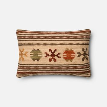 Loloi Beige / Rust Decorative Throw Pillow (P0384)