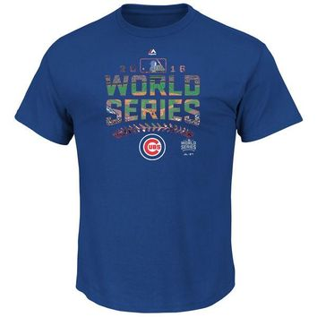 Youth Chicago Cubs Majestic Royal 2016 World Series Bound Attention Grabber T-Shirt