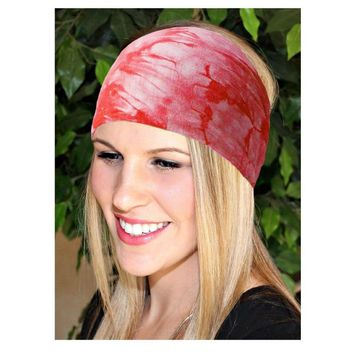 Boho Tie Dye Cotton Wide headbands