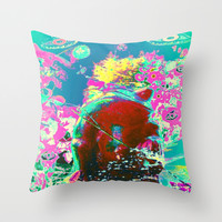 Warrior Frog - Featuring TUTU Throw Pillow by MADAME MAZUNI