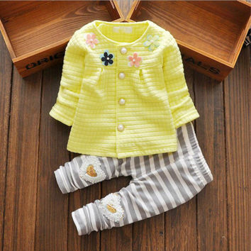 Newborn baby girl clothes 2016 vetement fille clothing set winter cotton toddler girl clothing 2PC baby set baby girl clothes