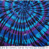 Circular Tie-Dye - Turquoise and Purple - Tapestry