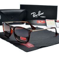 Rayban-T626 red Frame gray Lens Sunglasses