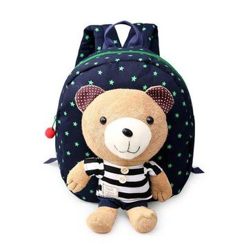 ONETOW Cute Bear Backpack  Infant Toddler Kids Cartoon Walking Keeper Backpack Strap Bag Anti Lost Safety Harnesses