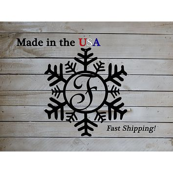 Snowflake Monogram Wreath Hangers