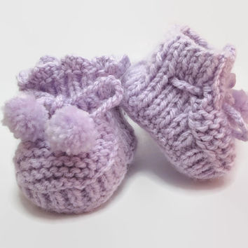 Baby Shoes Knit - Children Booties Unisex - Baby Knits Custom Order - Baby Products Handmade - Newborn First Booties - Crib Shoes