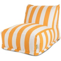 Yellow Vertical Stripe Bean Bag Chair Lounger