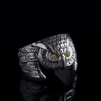 Owl Ring, sterling silver, handmade