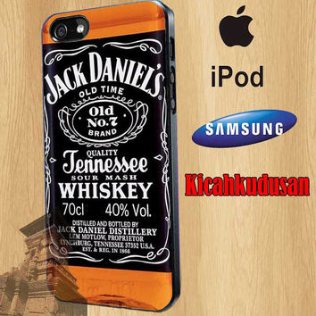 Whiskey Jack Daniels  for iPhone 4/4S/5/5S/5C Case, Samsung Galaxy S3/S4/S5 Case, iPod Touch 4/5 Case
