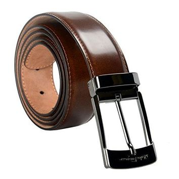 Salvatore Ferragamo 100% Leather Brown Men's Belt US 38 IT 95;