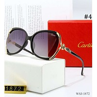 Cartier 2018 new glasses large frame retro sunglasses color film polarized sunglasses F-3A30-LRWJ #4