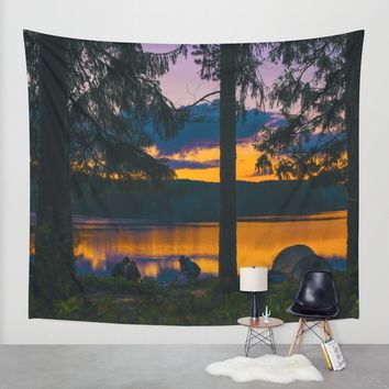 Down By The River Wall Tapestry by Gallery One