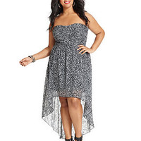 Ruby Rox Plus Size Dress, Strapless Printed High-Low - Junior Plus Size - Plus Sizes - Macy's