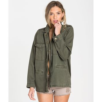 Billabong Women's Right Left Right Military Jacket | Olive