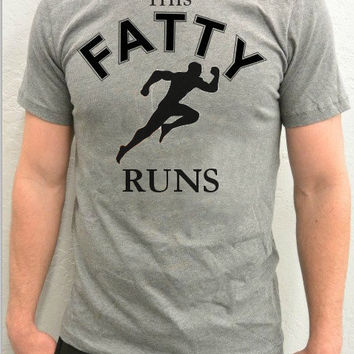 OOTD Outfit of the Day Trendy Unisex This Fatty Runs T-Shirt, Runners Workout Athletic Tee, Instagram Fashion, Tumblr Fashion, Fatty Does