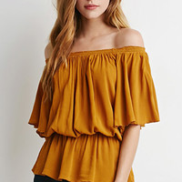 Butterfly Sleeve Gauze Blouse