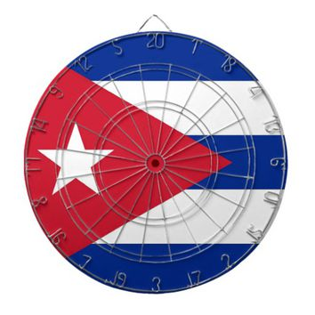 Dartboard with Flag of Cuba
