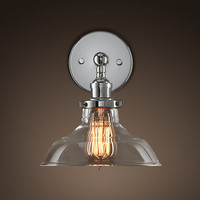 Glass Barn Filament Sconce Polished Nickel