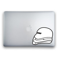 Flametrooper from Star Wars: The Force Awakens 2-Color Sticker for MacBooks and Apple Devices