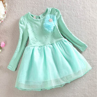 1-6Y Baby Girls Kids Party Princess Fluffy Flora Tutu Tulle Dress Cloth Sundress Princess Dresses NW