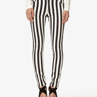 Vertical Striped Skinny Jeans