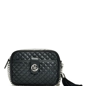 Classic Quilted Mini Crossbody at Guess
