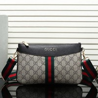 Gucci Women Leather Satchel Shoulder Bag Handbag Crossbody