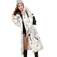 New large size Coat women cotton long section Korean winter coat thicker Slim Down padded jacket warm cute student