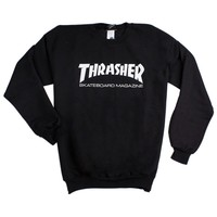 Skate Mag Logo Sweatshirt in Black by Thrasher