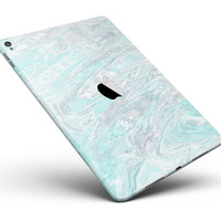 """Teal Slate Marble Surface V39 Full Body Skin for the iPad Pro (12.9"""" or 9.7"""" available)"""