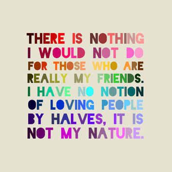 Jane Austen Quote Print - Nothing I would not do