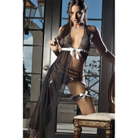 Pyjamas Female Backless Sexy Sleepwear Ladies Set Underwear = 4804413124