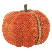 Harvest Hand-Wrapped Tweed Orange Pumpkin Small