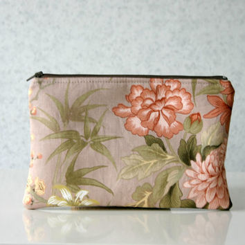 Retro Floral Clutch bag Vintage Inspired Flowers