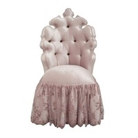 Tufted Vanity Chair - Lavender Cotton Velvet - Haute House Home