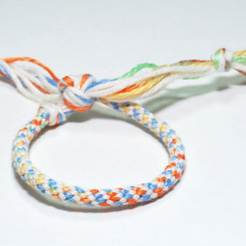 Kumihimo Fibre Bracelet Cotton for Children