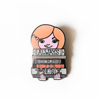 Always Hungry for More, Silver Metal, Enamel Pin - Designed by: Taren S. Black