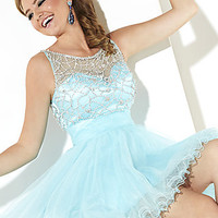 High Neck Open Back Baby Doll Dress by Hannah S