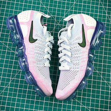 Nike Air Vapormax Flyknit 2.0 White Pink Sport Running Shoes - Best Online Sale