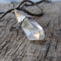 Clear Quartz Necklace Healing Stone jewelry