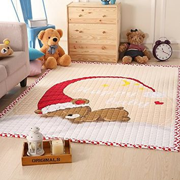 Happy Baby Sleeping Kids Rug Childrens Room Play Yoga Mat carpet 4.7 Ft.X6.3 Ft