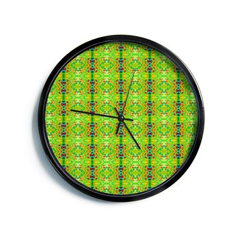 "Bruce Stanfield ""Rage Against The Machine"" Green Pattern Modern Wall Clock"
