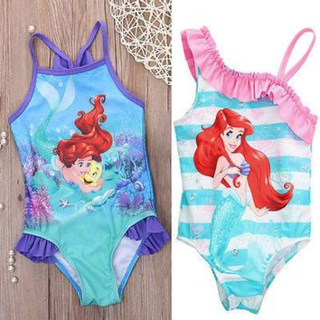 DCCKHG7 Hot girls one piece little mermaid ballet swimwear bikini meisje girls bathing suits baby swimming suit toddler