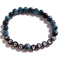Good Vibes Ocean Spray Stretch Bracelet