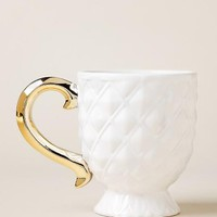 Pineapple mug with gold handle
