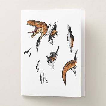 Velociraptor Escape Pocket Folder
