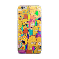 Lisa Simpson Collage The Simpsons Paparazzi iPhone 4 4s 5 5s 5C 6 6s 6 Plus 6s Plus 7 & 7 Plus Case