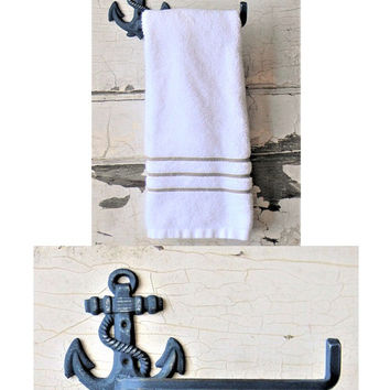 Anchor Towel Holder,Anchor Hand Towel Holder,Hand Towel Holder,Bathroom Towel Holder,Anchor Decor,Anchor Kitchen Decor,Kitchen Towel Holder